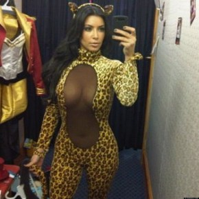 Kim Kardashian cat costume