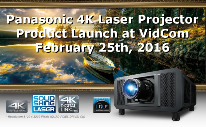 Panasonic 4K Laser Projector Launch at VidCom