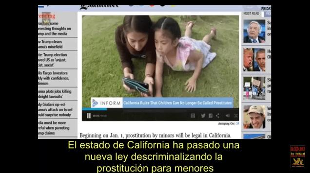 California Legaliza la Prostitución Infantil. Ley SB1322.vídeo