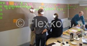 Bemærk længden på værdistrømsanalysen - og den fortsætte på væggen til højre (udenfor billedet)