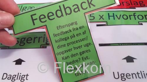 Et andet vigtigt T-kort til en leder - at starte den nødvendige feedback-kultur for fjernelse af spild