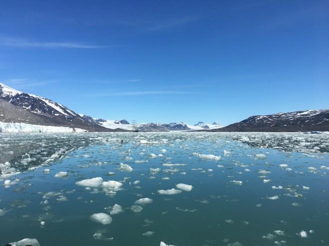 The melting ice