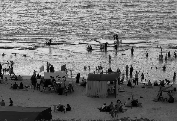locals play on the gaza beach