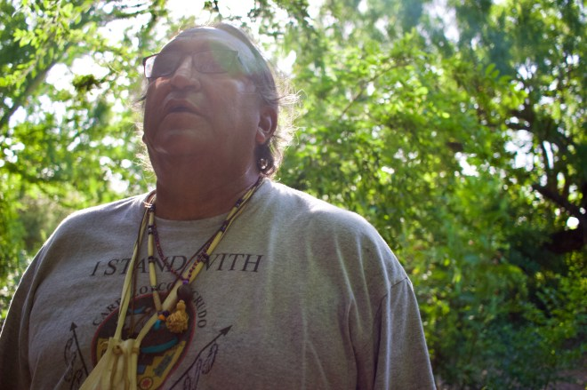 Juan Mancias, chair of the Carrizo/Comecrudo tribe in Texas