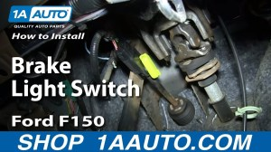 How To Replace Brake Light Switch 0408 Ford F150 | 1A Auto