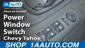 How to Replace Power Window & Door Lock Switch 9599 Chevy