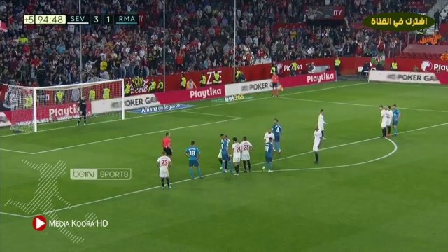 بالفيديو… أهداف مباراة إشبيلية وريال مدريد في الدوري الإسباني (3-2)