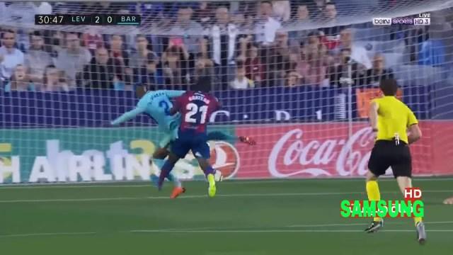 بالفيديو… أهداف مباراة برشلونة وليفانتي (4-5)