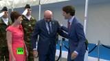 """قبلة """"وسيم كندا"""" لزوجة رئيس الوزراء البلجيكي تثير جدلا واسعا في الإنترنت (فيديو)"""