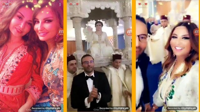 """الفنانة العراقية """"شذا حسون"""" تحتفل بزفاف شقيقها في قاعة فاخرة بالمغرب"""