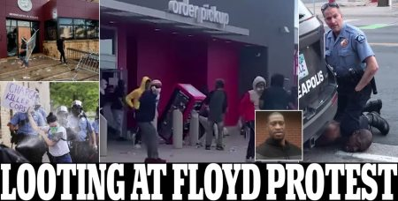 Looting Breaks Out at George Floyd Death Protest and a Police Station is Attacked as Thousands Descend on Minneapolis for a Second Night Demanding the Arrest of Cops Involved in the Black Man's Death