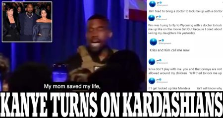 "Kanye West Claims Wife Kim Kardashian was Flying Out 'with a Doctor to Lock Me Up' After his Public Near-Abortion Revelation, Slams Momager Kris Jenner and Then says Movie 'Get Out' is ""About Me"" During Twitter Rant – as Fears for Rapper's Mental Health, Marriage Grow"