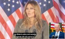 WATCH: Melania Trump slams 'socialist' Biden in full-on attack of Democrats as she hits campaign trail for husband solo in Pennsylvania – and accuses media of trying to 'distract' from her work with 'baseless claims from ex-staff'