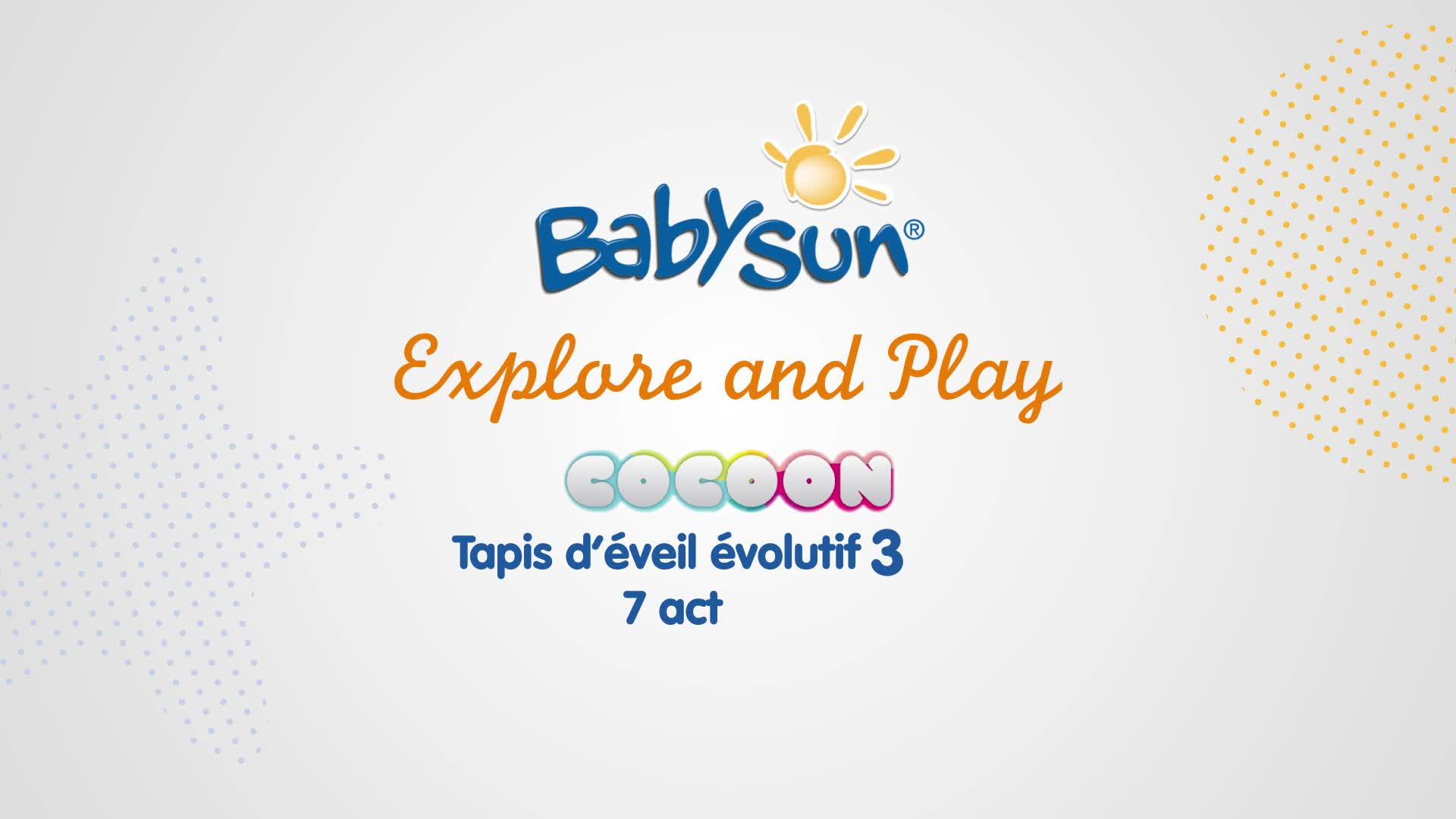tapis d activites cocoon babysun explore and play