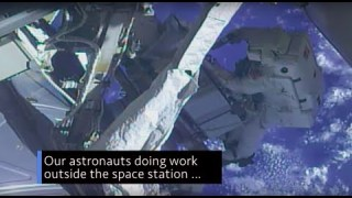 Astronauts Working Outside the Space Station on This Week @NASA ? May 18, 2018