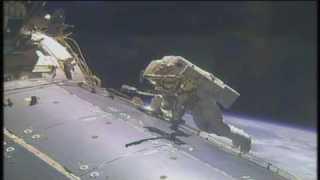 Space Station Crew Conducts Milestone Spacewalk