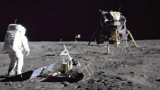 Restored Apollo 11 Moonwalk – Original NASA EVA Mission Video – Walking on the Moon