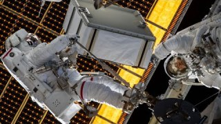 NASA Astronauts Spacewalk Outside the International Space Station on Jan. 20, 2020