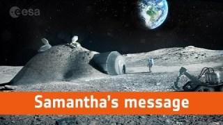Message from ESA astronaut Samantha Cristoforetti