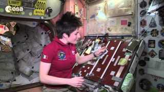 Space snack time with Samantha Cristoforetti