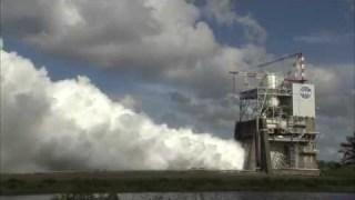 RS-25 Rocket Engine Test Firing
