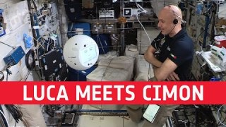 Luca meets space cyber assistant Cimon