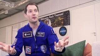 Thomas Pesquet's first post-flight interview (English)