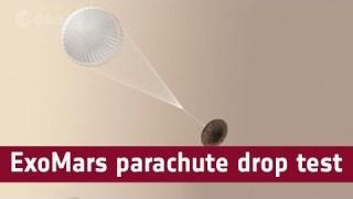 ExoMars low-altitude parachute drop test