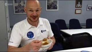 Alexander Gerst food testing