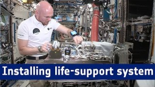 Horizons mission – Installing life-support system with astronaut aid mobiPV