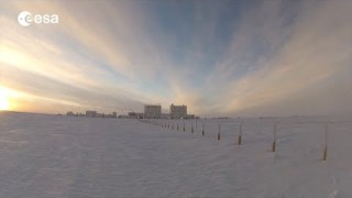 Winter at the Concordia station in Antarctica