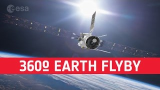 Zoom past Earth with BepiColombo in virtual reality simulation
