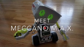 Meet Meccano M.A.X. Interactive Robot with Artificial Intelligence