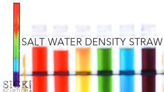Salt Water Density Straw – Sick Science! #140