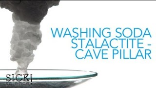 Washing Soda Stalactite – Cave Pillar – Sick Science! #084