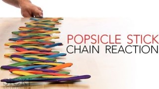 Popsicle Stick Chain Reaction – Sick Science! #144