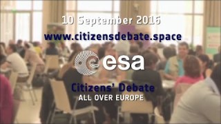 10 September 2016: Citizens' Debate on Space for Europe in 22 ESA Member States