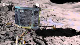 Journey to a comet and science on the surface