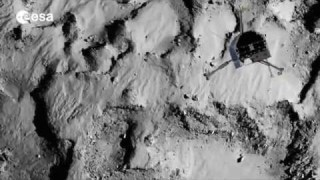 Rosetta: landing on a comet