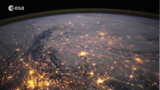 Timelapse of Western Europe seen from onboard the ISS