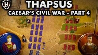 Battle of Thapsus, 46 BC ⚔️ Caesar's Civil War