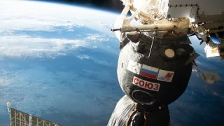Space Station Crew Relocate Soyuz Spacecraft