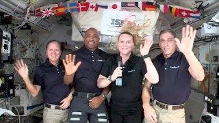 NASA Astronauts Share Inauguration Message From the Space Station