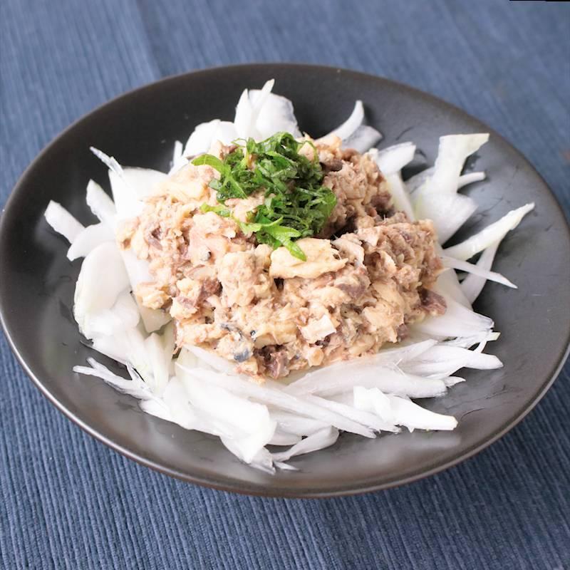 サバ缶と新玉ねぎの和風サラダ 作り方・レシピ | クラシル
