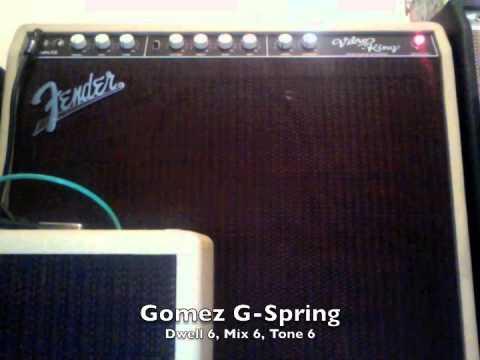 Gear: Fender Vibro King Onboard Reverb VS. Gomez G-Spring Outboard Reverb