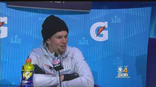 A Relaxed Tom Brady Fields Questions About - One News Page ...