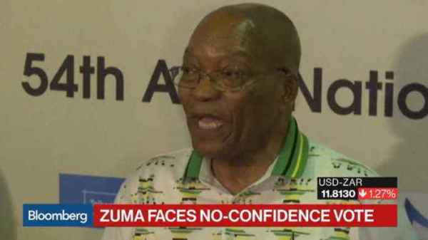 South Africa's Zuma Faces ANC No-Confidence Vote - One ...