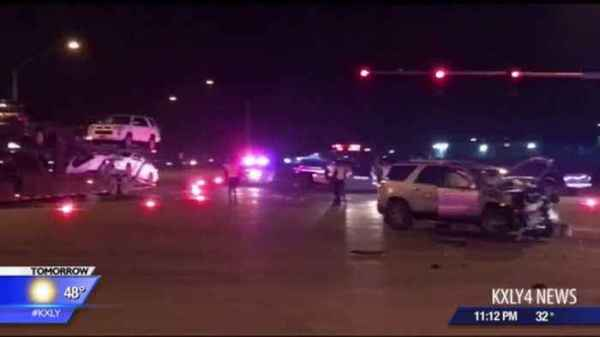 High speed chase ends with 3 car crash - One News Page VIDEO