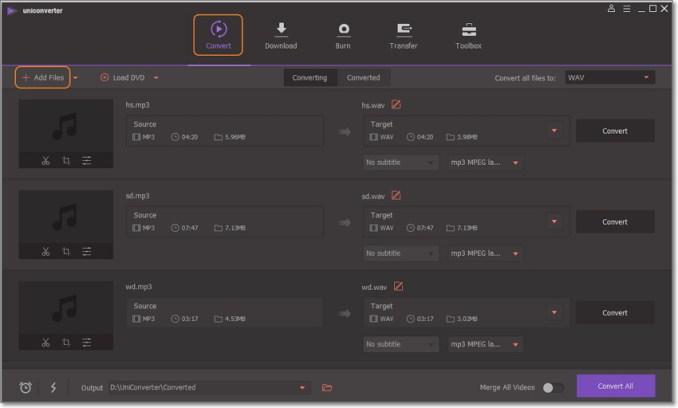 Risultato immagini per Wondershare UniConverter online audio converter