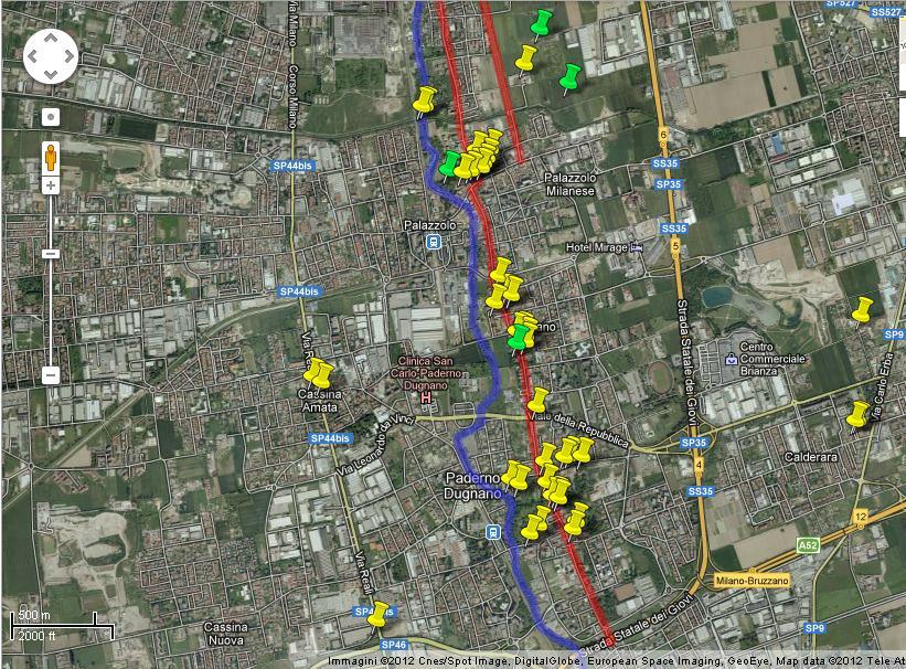Cartina storica della Grande Milano (2/6)